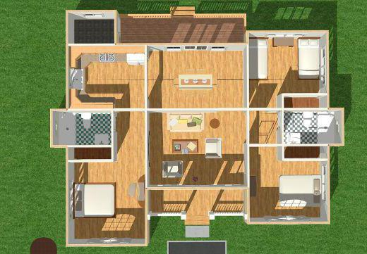 план дома 6 на 8