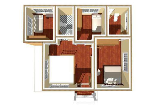 план дома 6 на 9