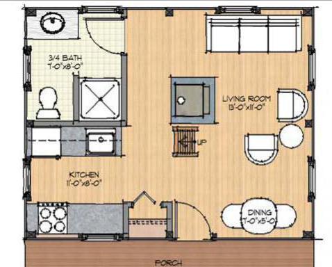 kuća od bar 6x6