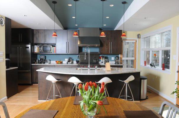 Kuhinje u privatnoj kući. dizajn kuhinje u privatnoj kući