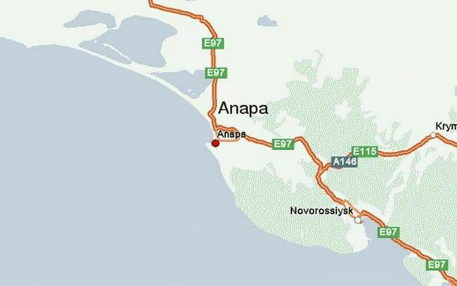 automobilom Anapa