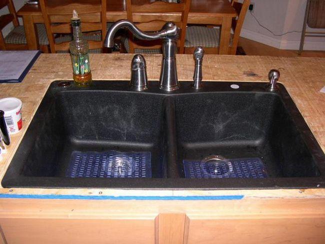 Pro i kontra od umjetnog kamena sudopera (recenzija)