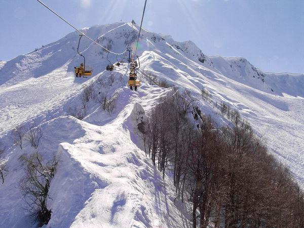 skijališta u Krasnodar Territory. Lagonaki