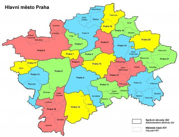Prag okruga karta