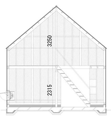 Projekti kuća iz bara s potkrovljem i verandu 6x9
