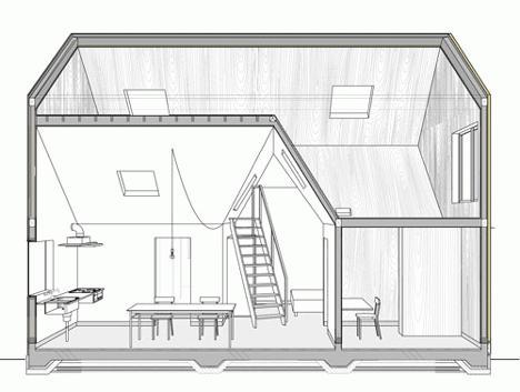 Projekti kuća iz bara sa potkrovljem 6x9