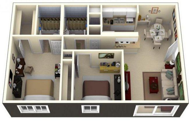 дом 6х9 одноэтажный