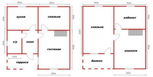 проекты домов 8х8
