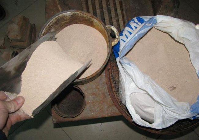 Rješenje peći za polaganje cigle: komponente, proporcije, priprema