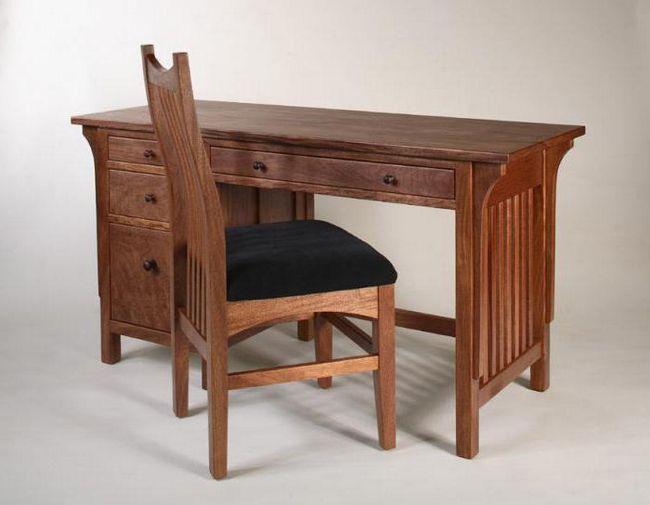 Размеры письменного стола для школьника. Стандарты и чертежи