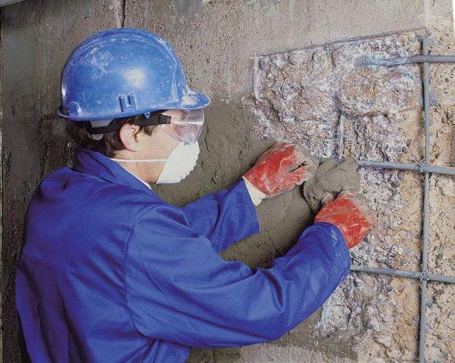 Sanacija betonske mešavine. Sorti, specifikacije, upute