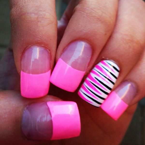 Розовый френч на ногтях: пошаговая инструкция выполнения