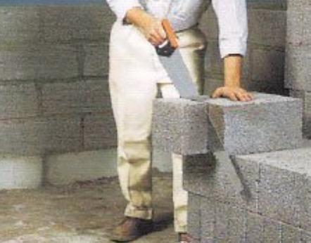 kao kocka od ekspandirane gline betonskih blokova
