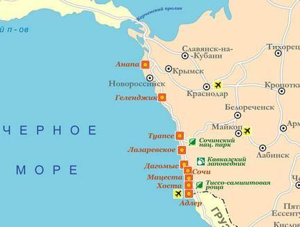 Sochi Krasnodar daljinu