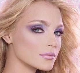 navečer oko make-up za plavuše
