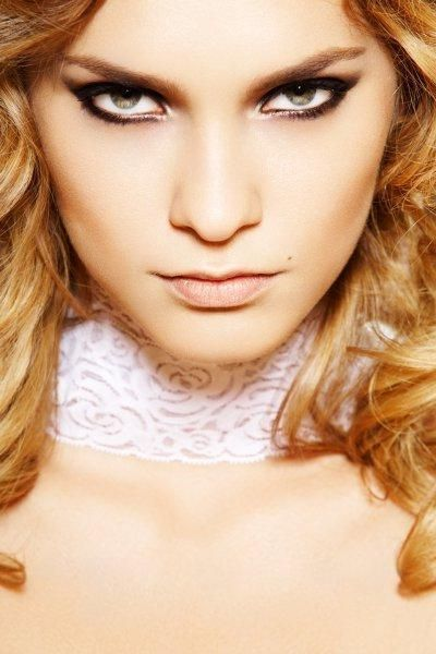 večer make-up za plavuše fotografiju