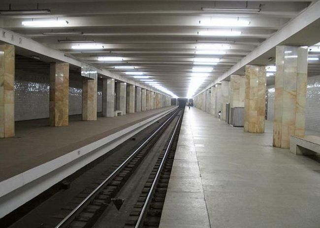 Metro Polezhaevskaya na moskovskom karti