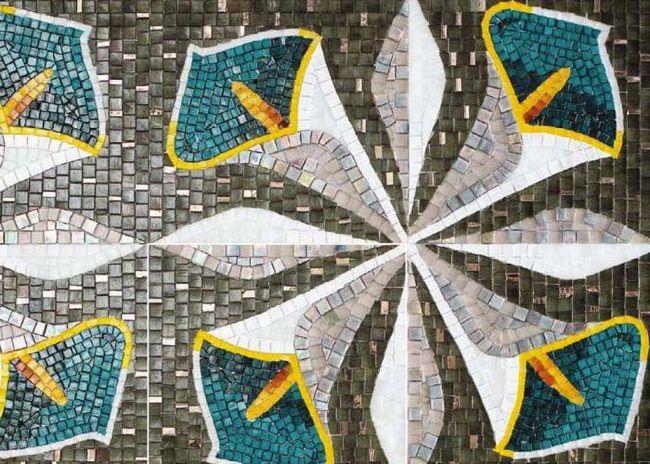 Staklo mozaik: vrste, karakteristike, aplikacije
