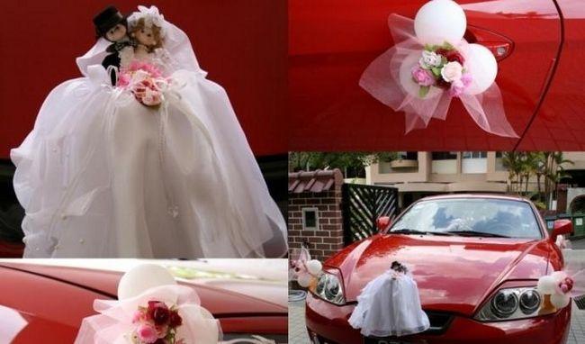 Стильные украшения для машины на свадьбу: своими руками сделать их вполне возможно
