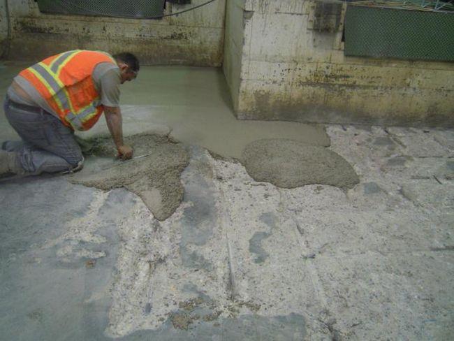Приготовление строительных растворов