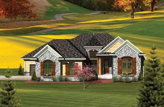 Частный дом со стропильной системой вальмовой крыши