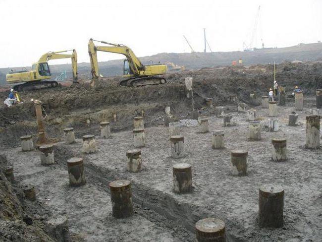 rostverkovy gomila temelj za drvenu kuću