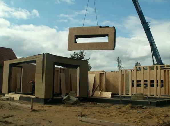 строительство домов каркасно щитовых