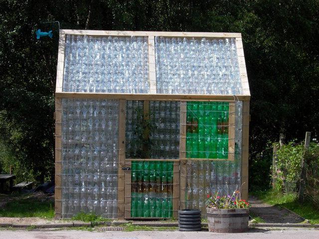staklenika od plastičnih boca sa svoje ruke