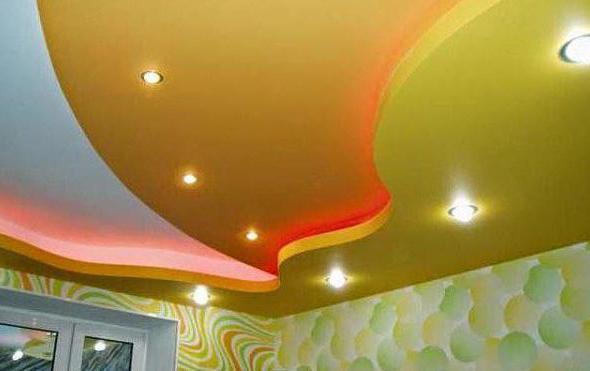 Krpom potezu plafon: prednosti i mane. Ugradnja spuštenih stropova tkanine