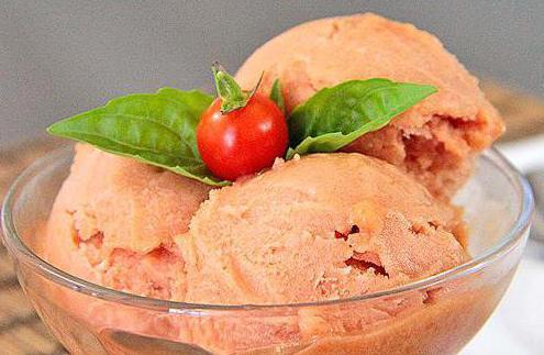 Tomato sladoled: recept. Priča o krema paradajza