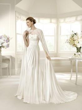 Трогательная накидка для невесты