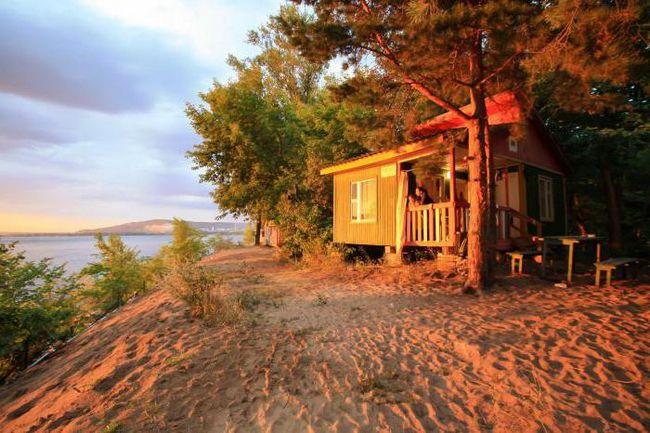 domovi v Samari na reki Volga