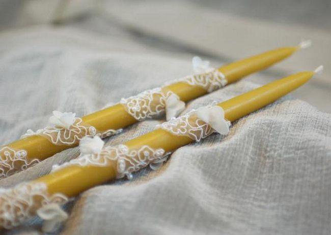 венчальные свечи что с ними делать