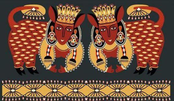 Зооморфный орнамент в полосе на одежде